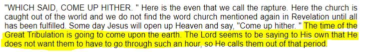 Jack Hyles Pre-Tribualtion Rapture