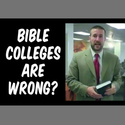 Anti-Bible College   NewIFB.info